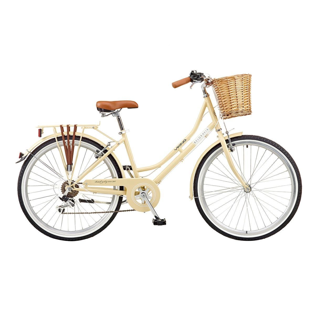 Viking Belgravia Ladies Traditional Heritage 26inch Wheel 6 Speed Bike - Latte