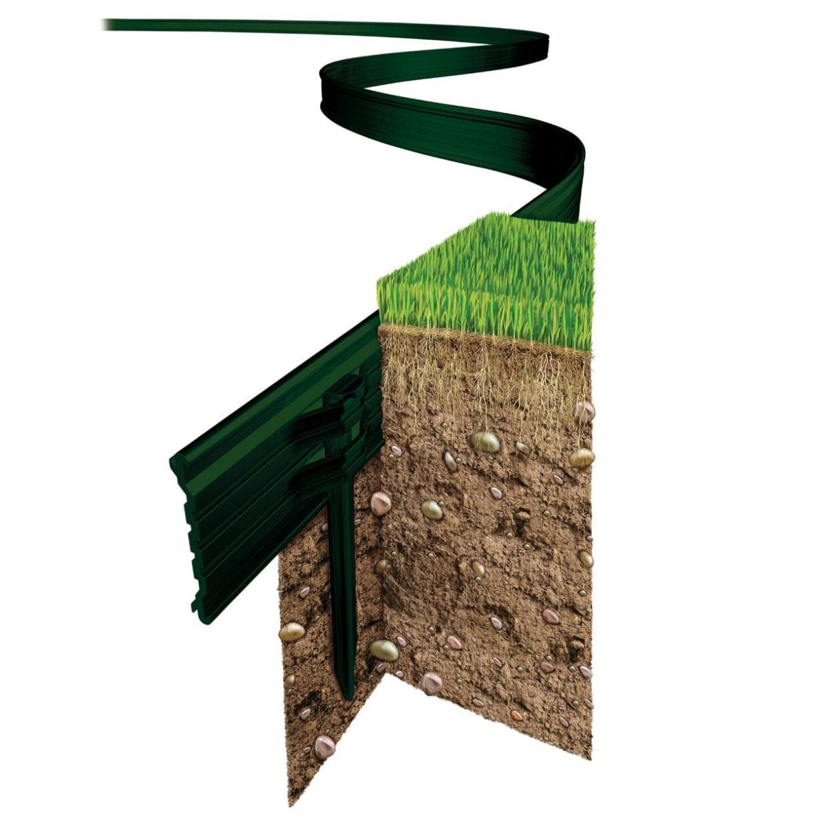 Swift Edge Gardening Edging - Green