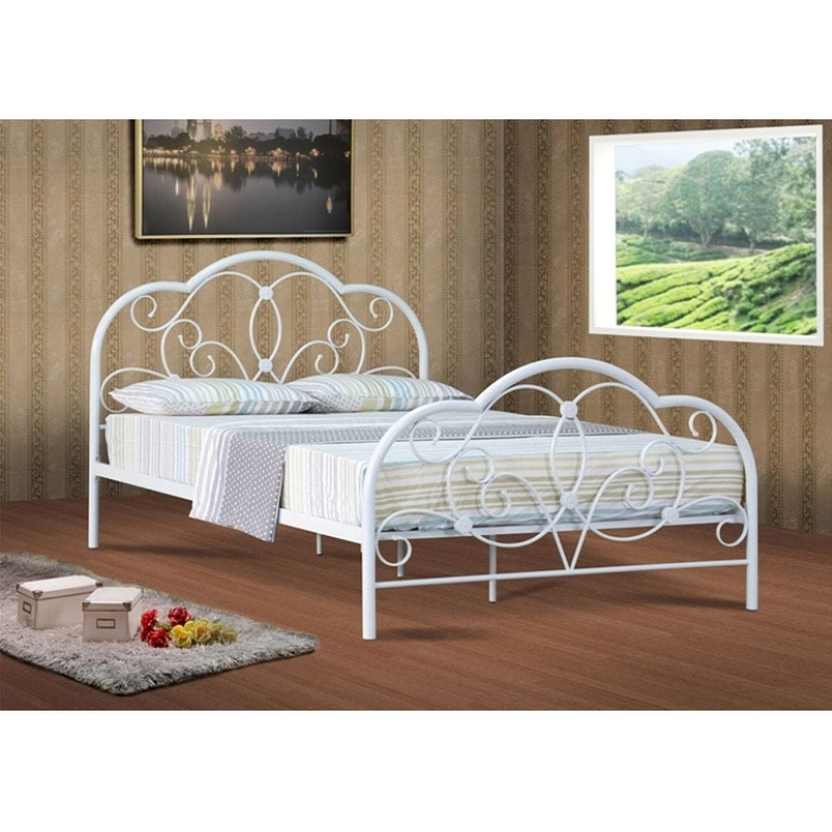 Aurora Small Double Bed Frame - White