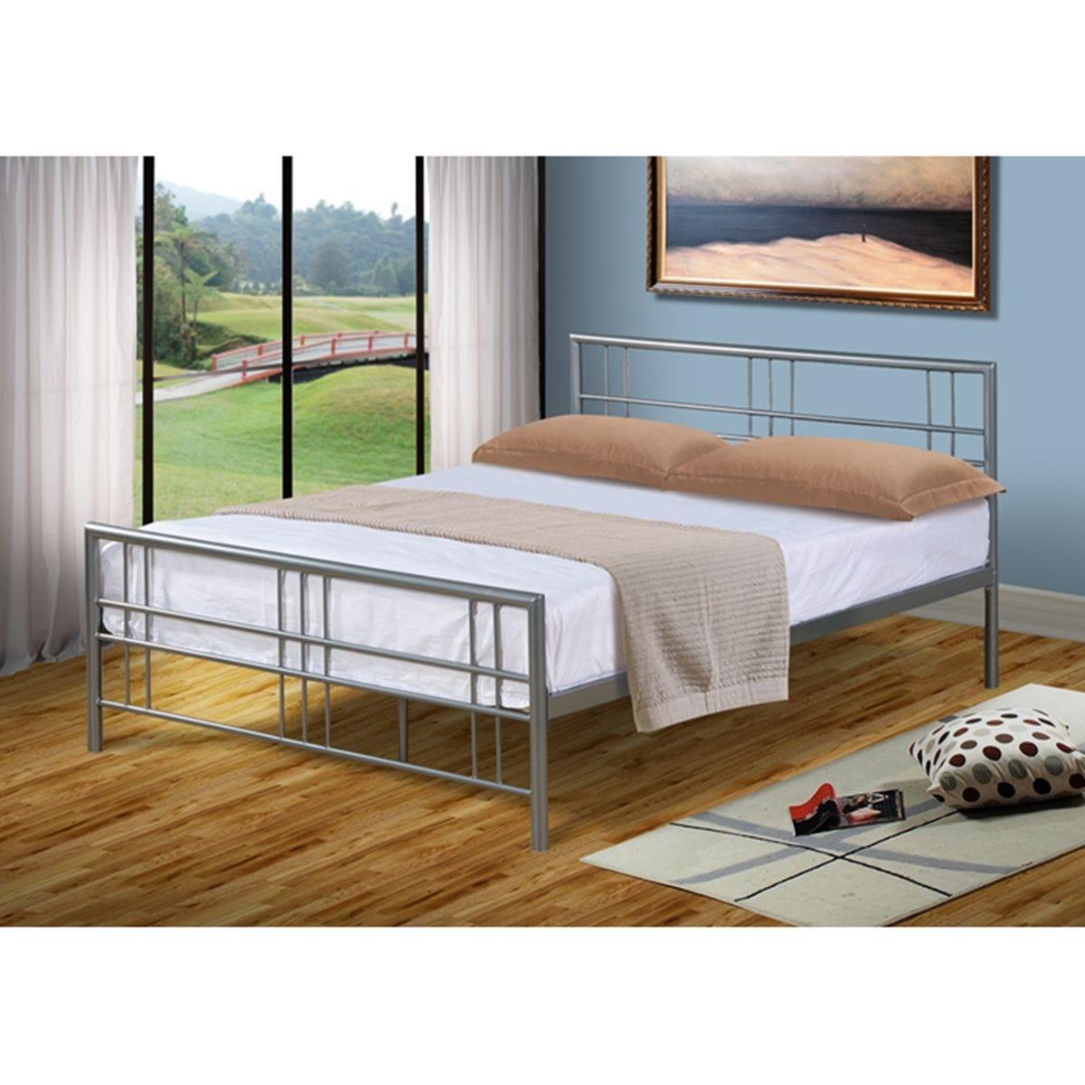 Luna Bed Frame - Silver