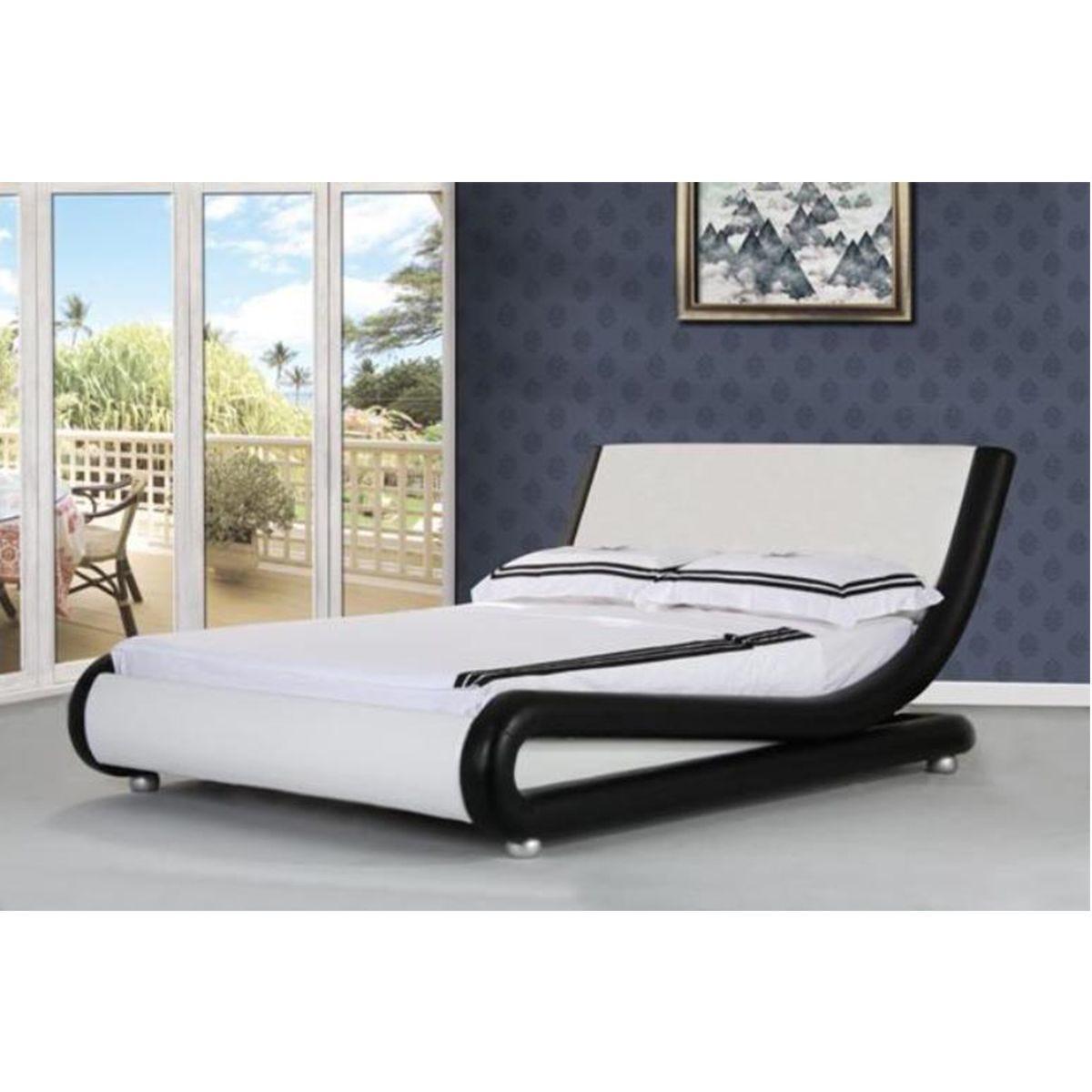Jaxon Bed Frame - Black/White