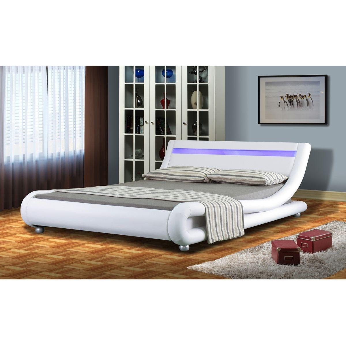 Chase LED Bed Frame - White