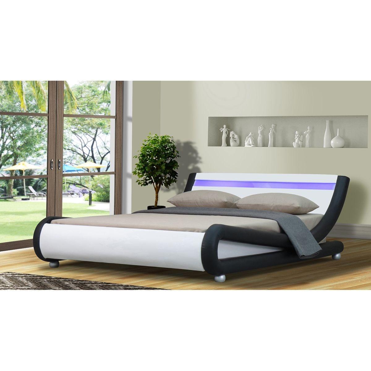 Chase LED Bed Frame - Black/White