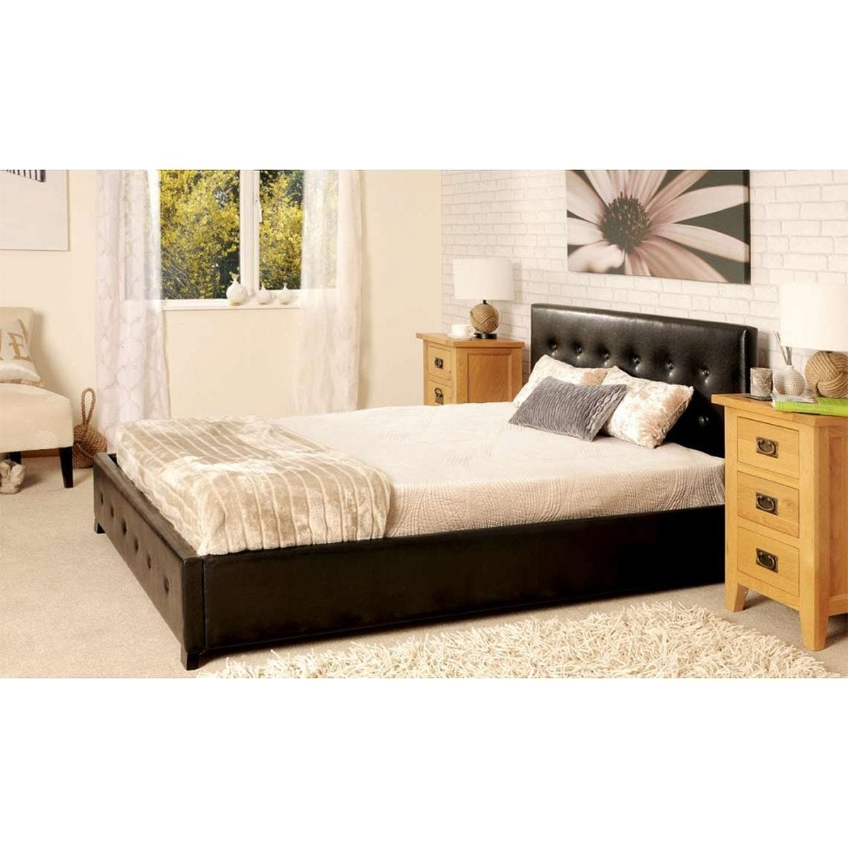 Lincoln Ottoman Storage Bed - Black