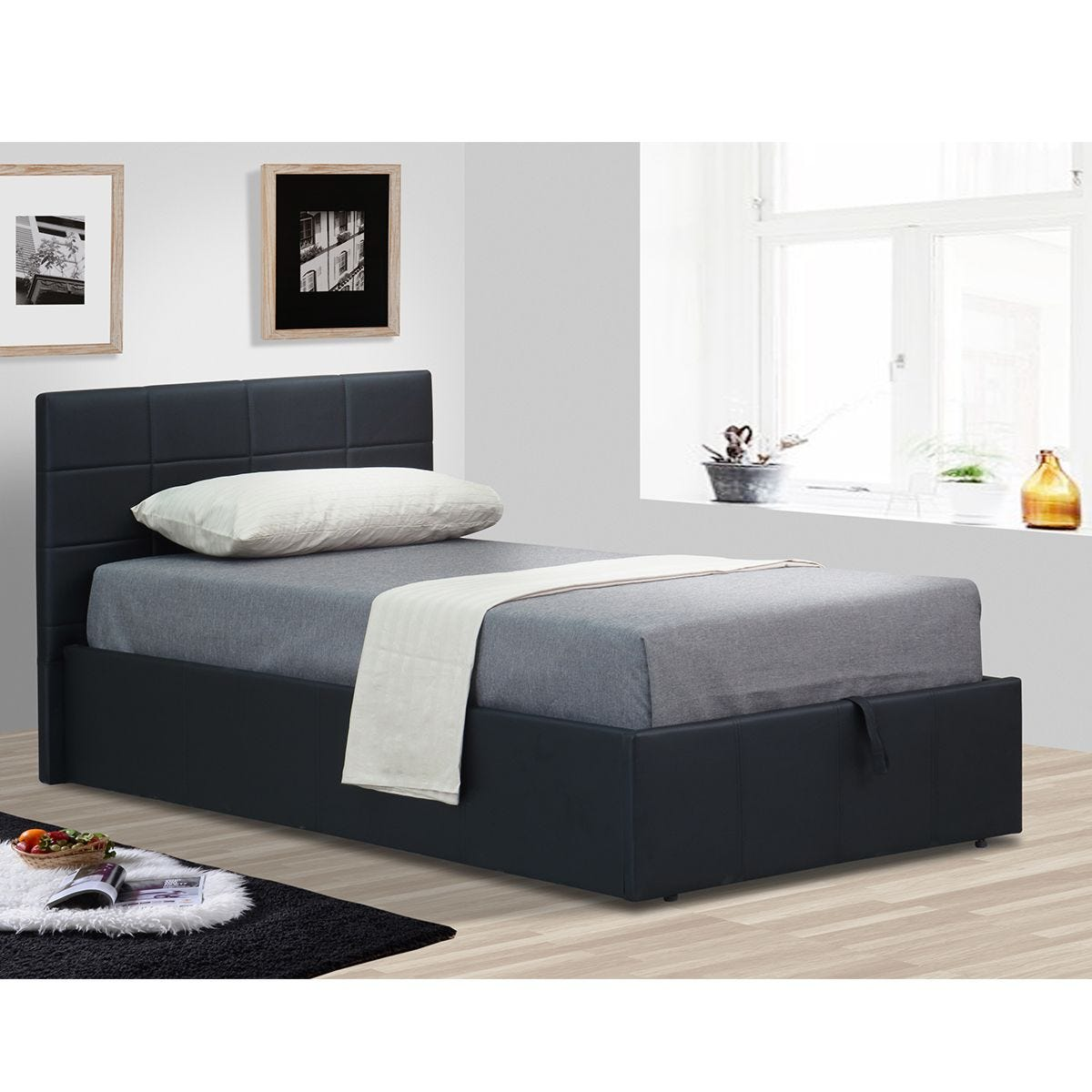 Ezra Ottoman Storage Bed - Black