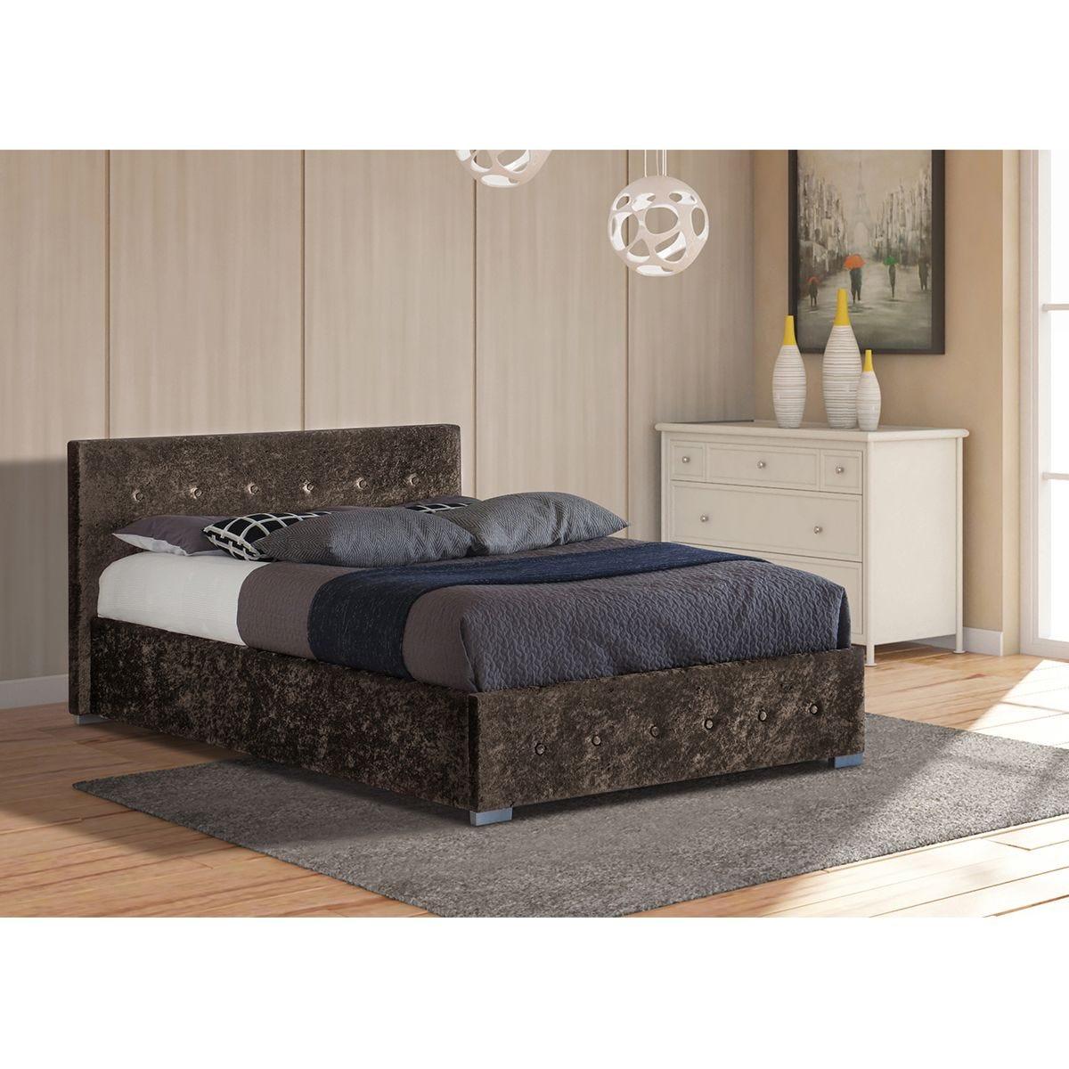 Albie Ottoman King Storage Bed - Brown