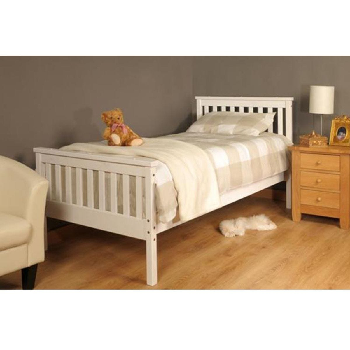 Talsi Double Bed Frame - White