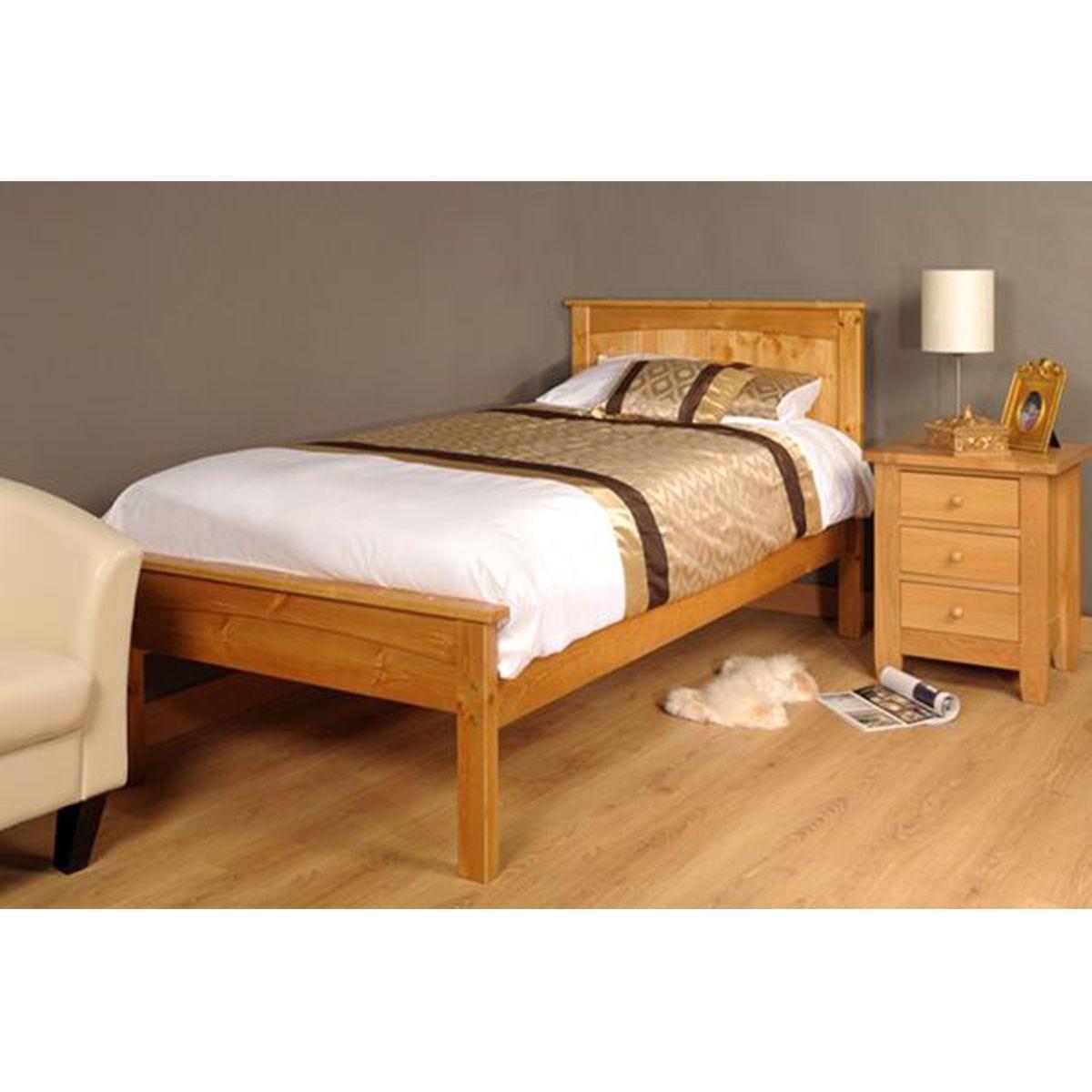 Ludza Bed Frame - Caramel