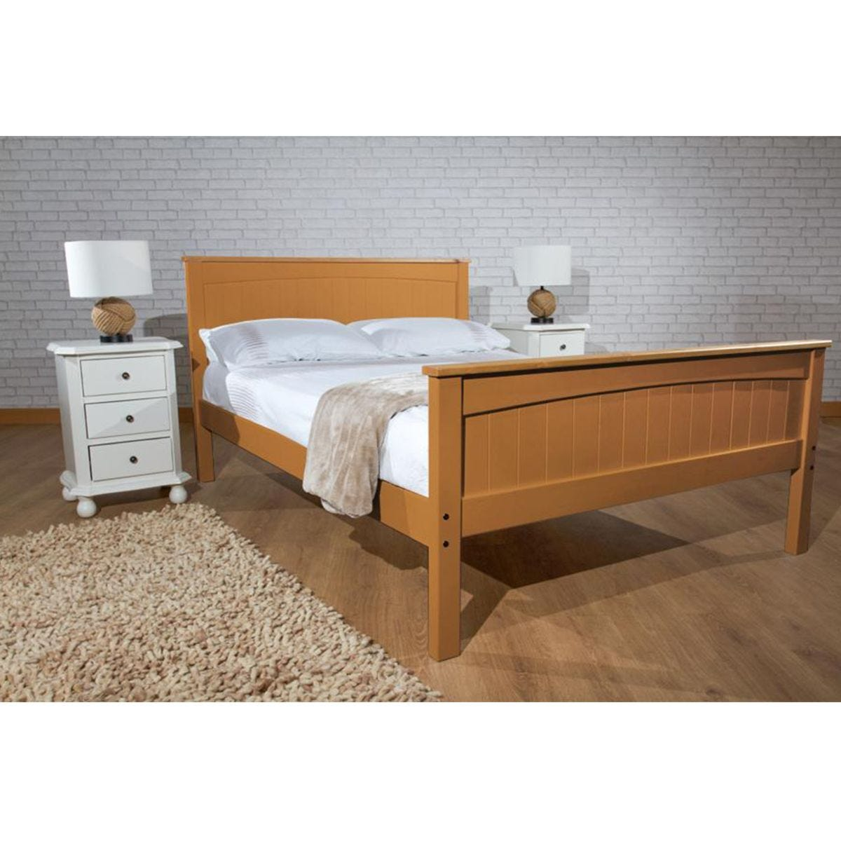 Dunte Bed Frame - Caramel