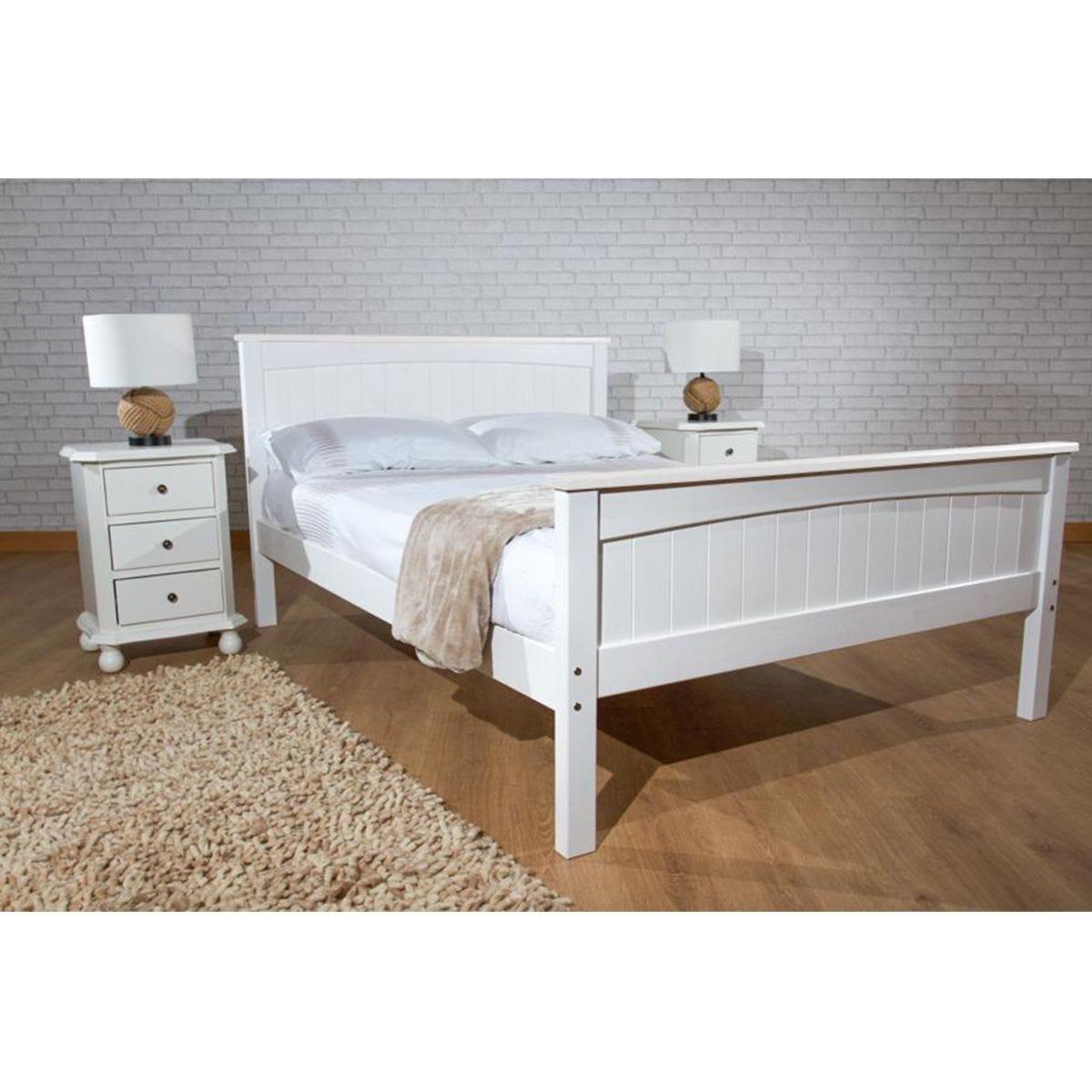 Dunte Bed Frame - White