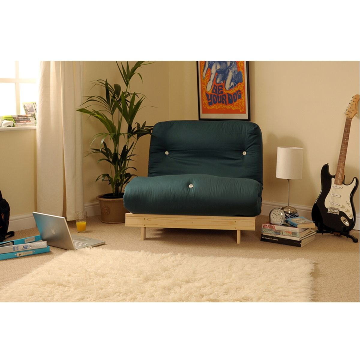 Picture of: Albury Sofa Bed Set With Tufted Mattress Dark Green Robert Dyas
