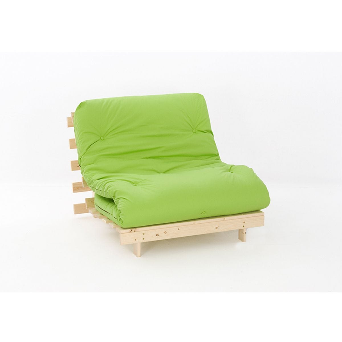 Ayr Sofa Bed Single Set With Tufted Mattress - Lime