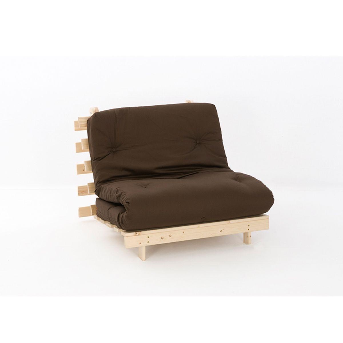 Ayr Futon Set With Tufted Mattress - Chocolate
