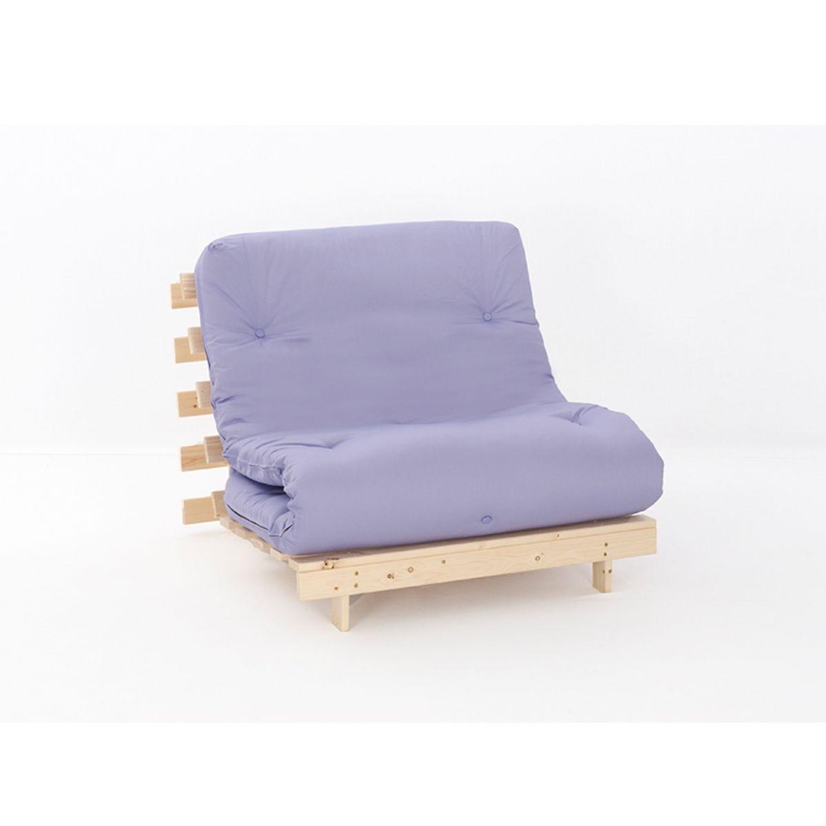 Ayr Futon Set With Tufted Mattress - Lilac
