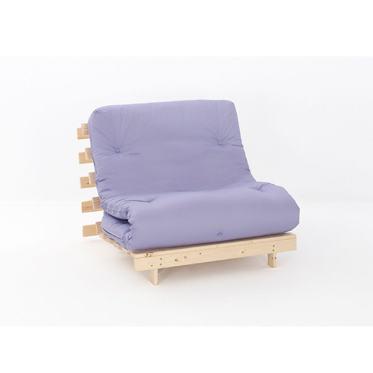 Ayr Futon Single Set With Tufted Mattress - Lilac