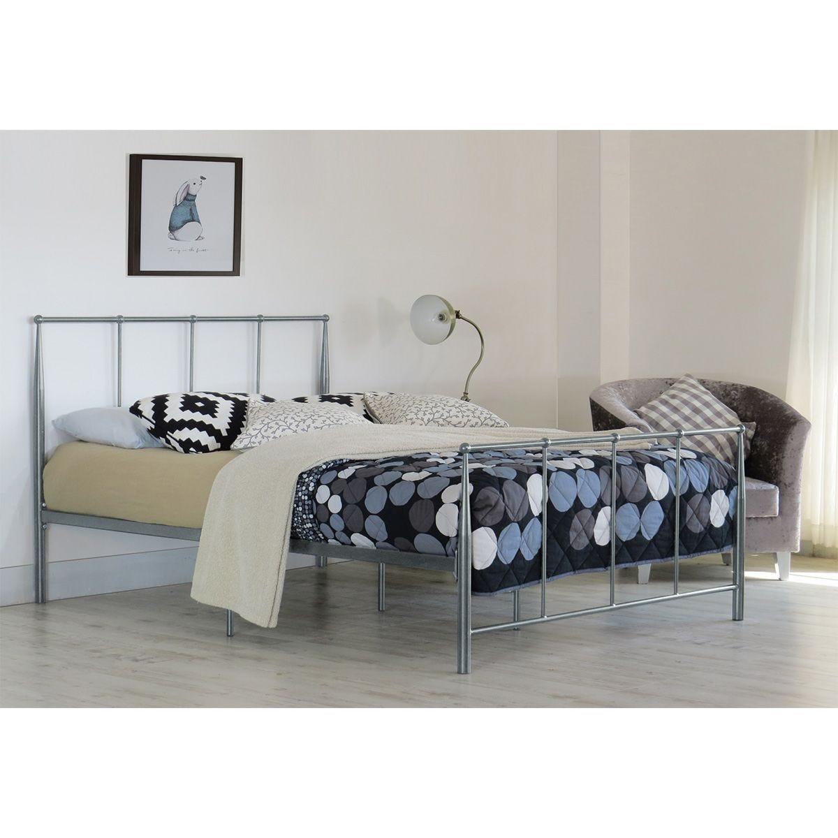 Brava Single Bed Frame - Silver