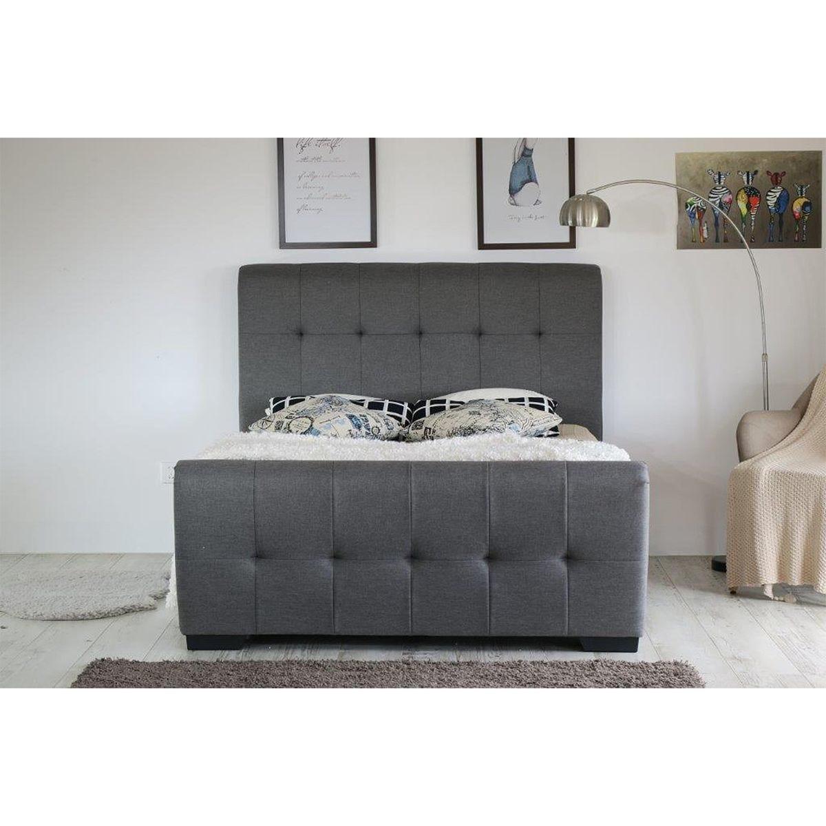 Gia USB Ottoman Bed Frame - Grey