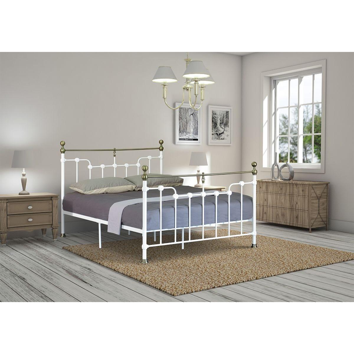 Arabella Metal Bed Frame - White