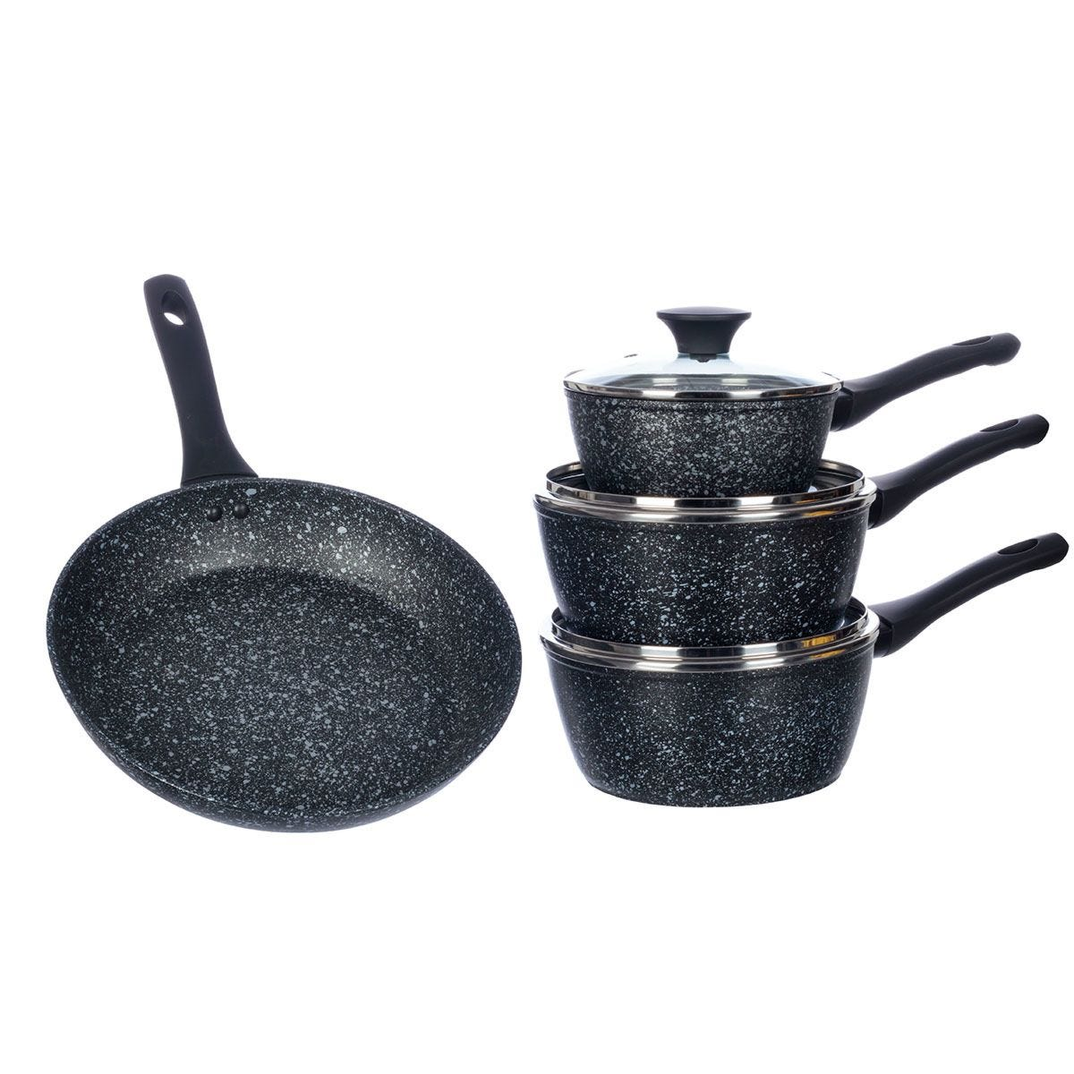 Salter Megastone 4-Piece Pan Set