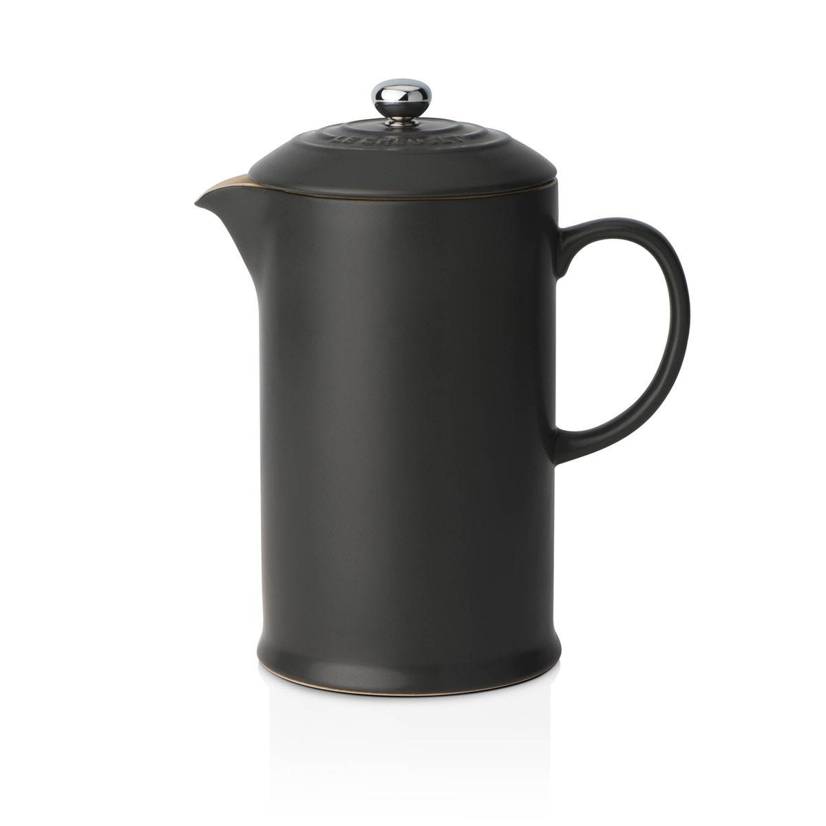 Le Creuset Stoneware Cafetiere with Metal Press Satin Black