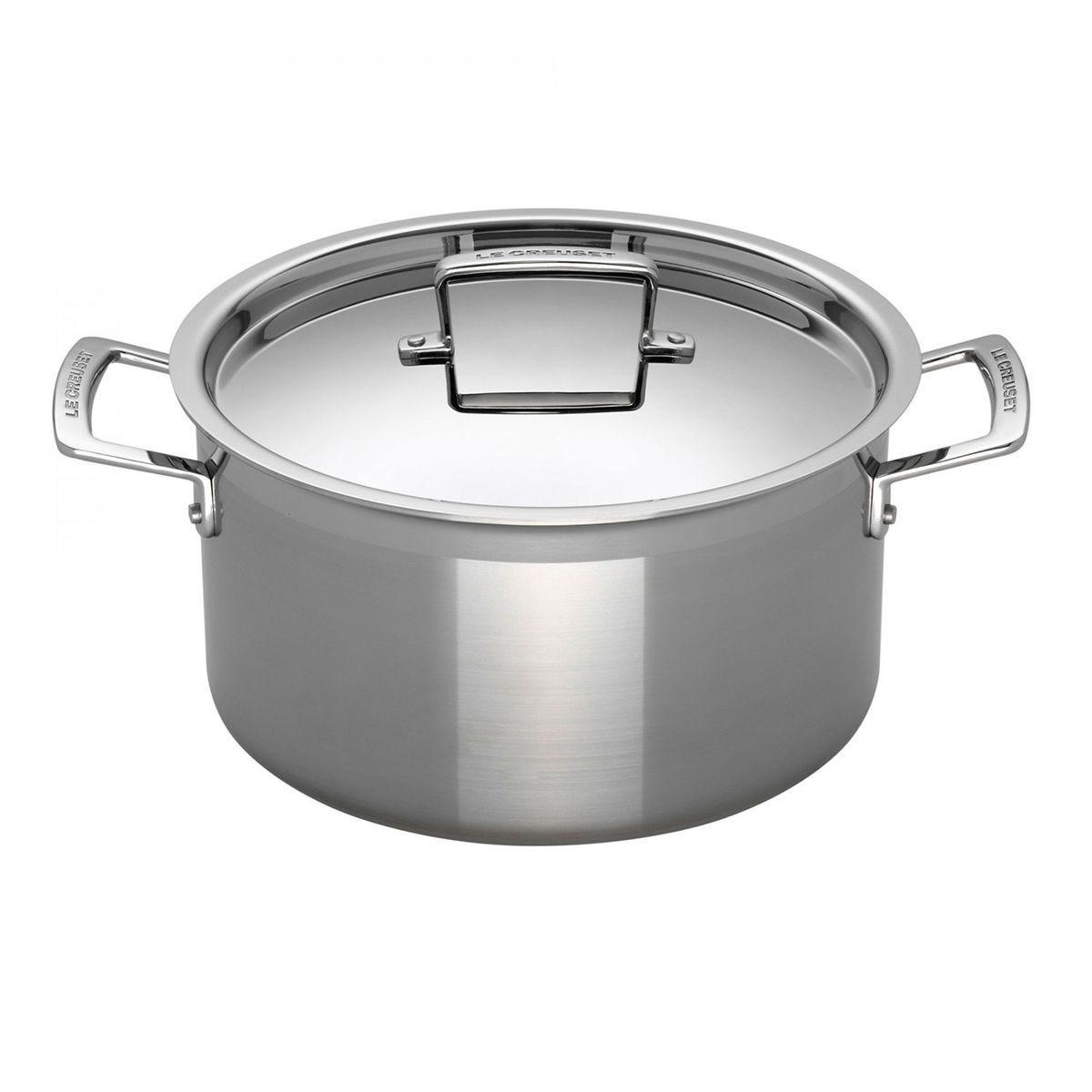 Le Creuset 3-Ply Stainless Steel Deep Casserole 24cm