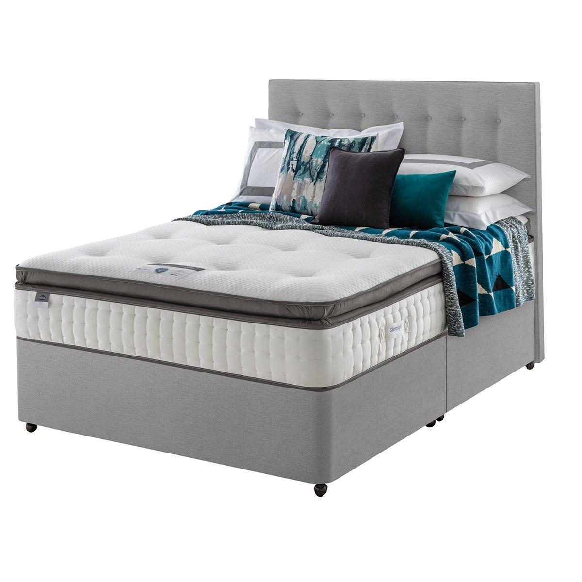 Silentnight Mirapocket Geltex 1000 Divan Bed - Grey