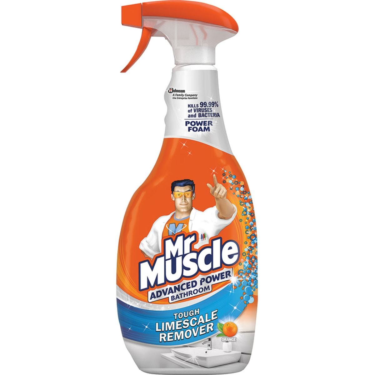Mr Muscle 750ml Advanced Power Bathroom Spray - Orange
