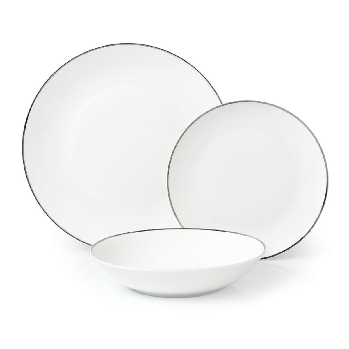 Robert Dyas 24-Piece Platinum Dinner Set - White