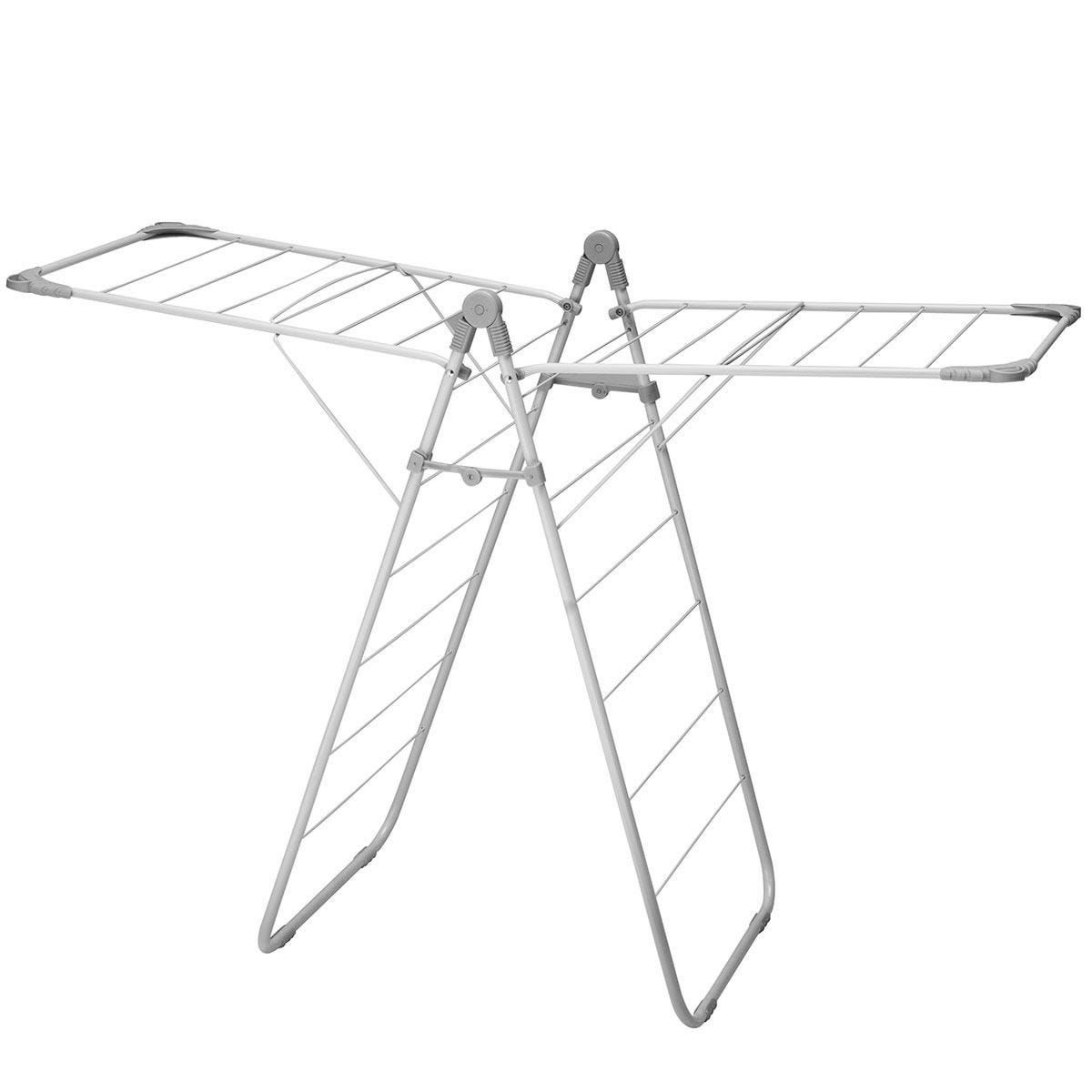 Addis Slimline X-Wing 2 Tier Clothes Airer - Grey
