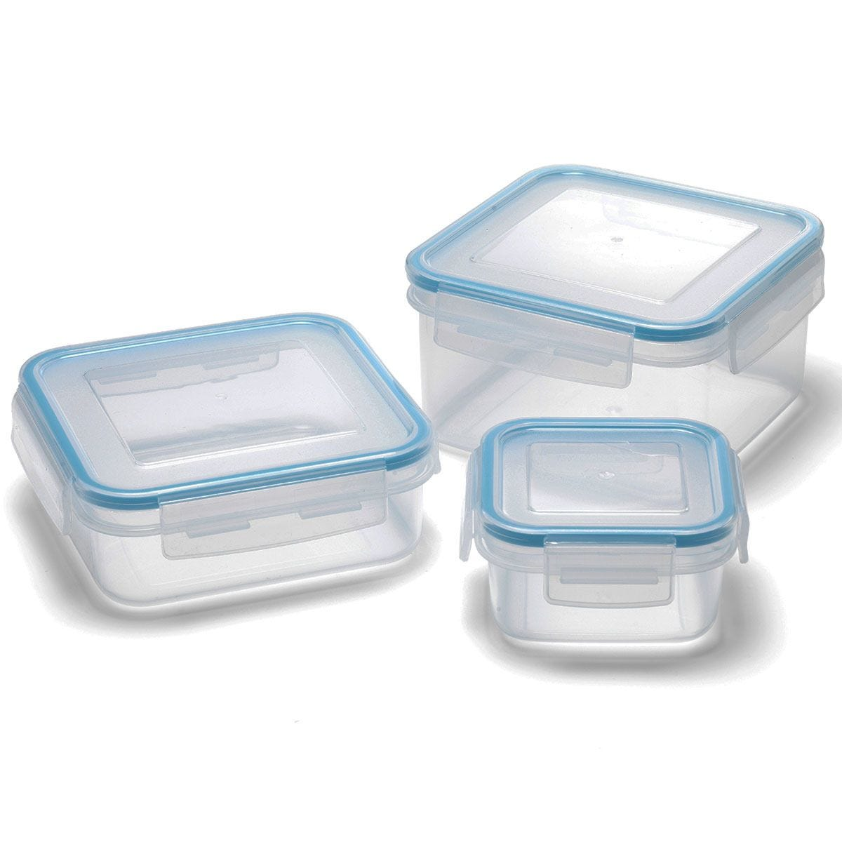 Addis Clip & Close 3 Piece Square Food Container Food Set