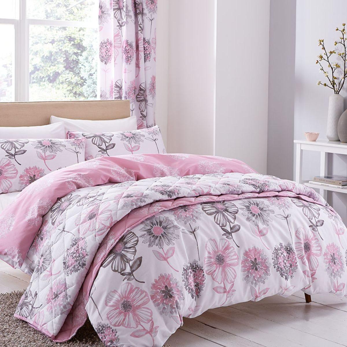 Catherine Lansfield Banbury Floral Duvet Set - Pink