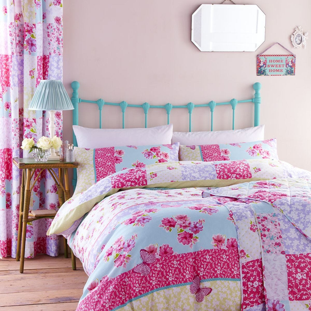 Catherine Lansfield Gypsy Patchwork Duvet Set - Multi
