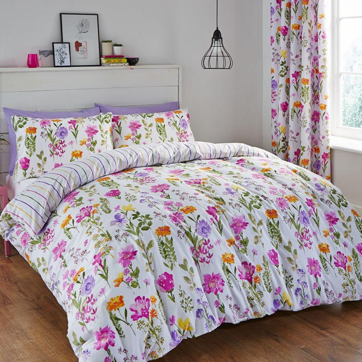 Catherine Lansfield Floral Meadow Duvet Set - Multi