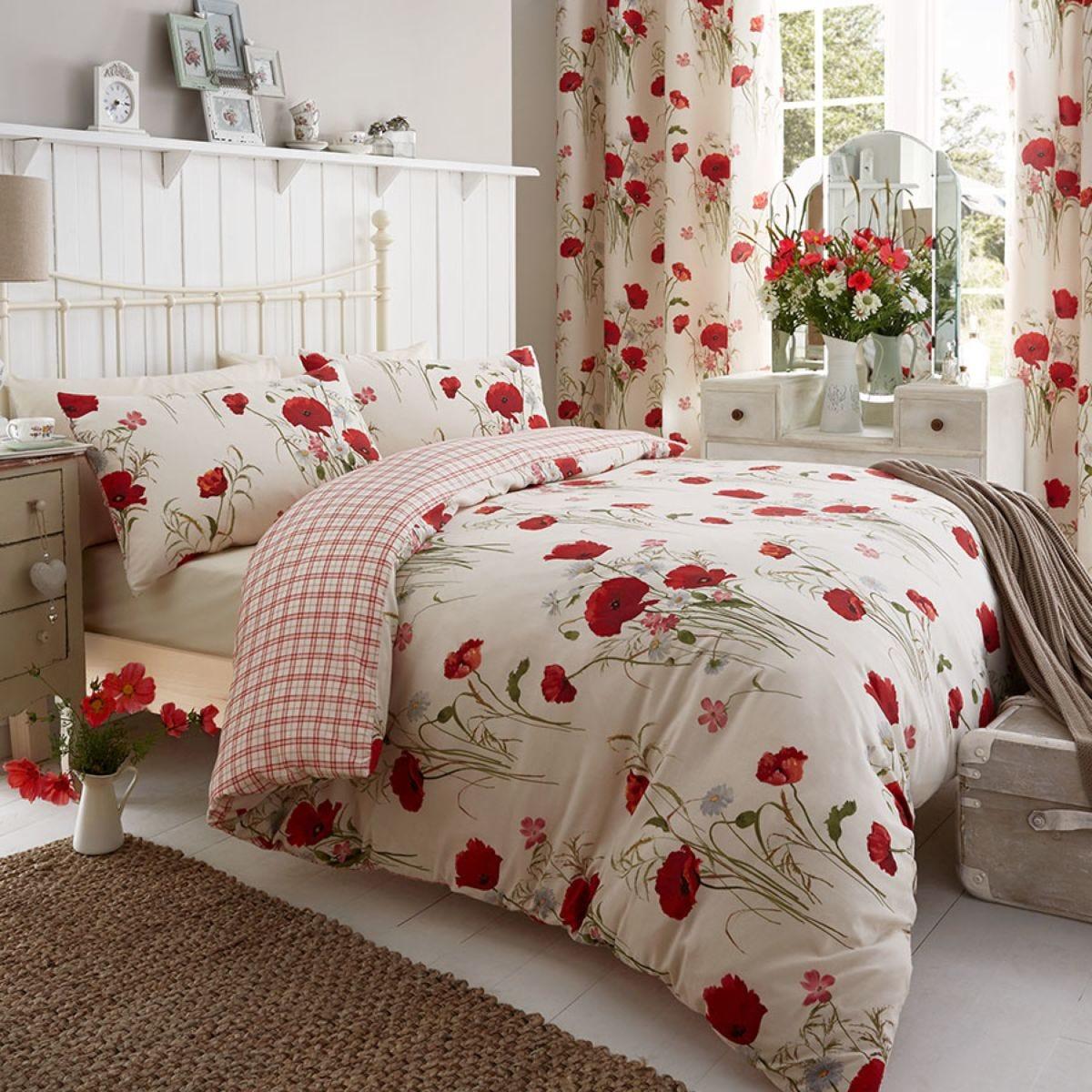 Catherine Lansfield Wild Poppies Duvet Set - Multi
