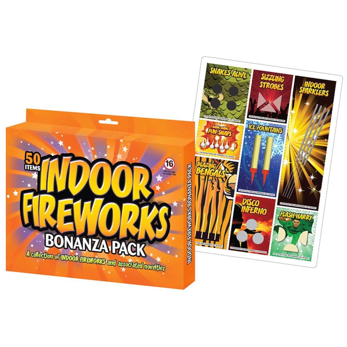 Tobar 50 Assorted Indoor Fireworks