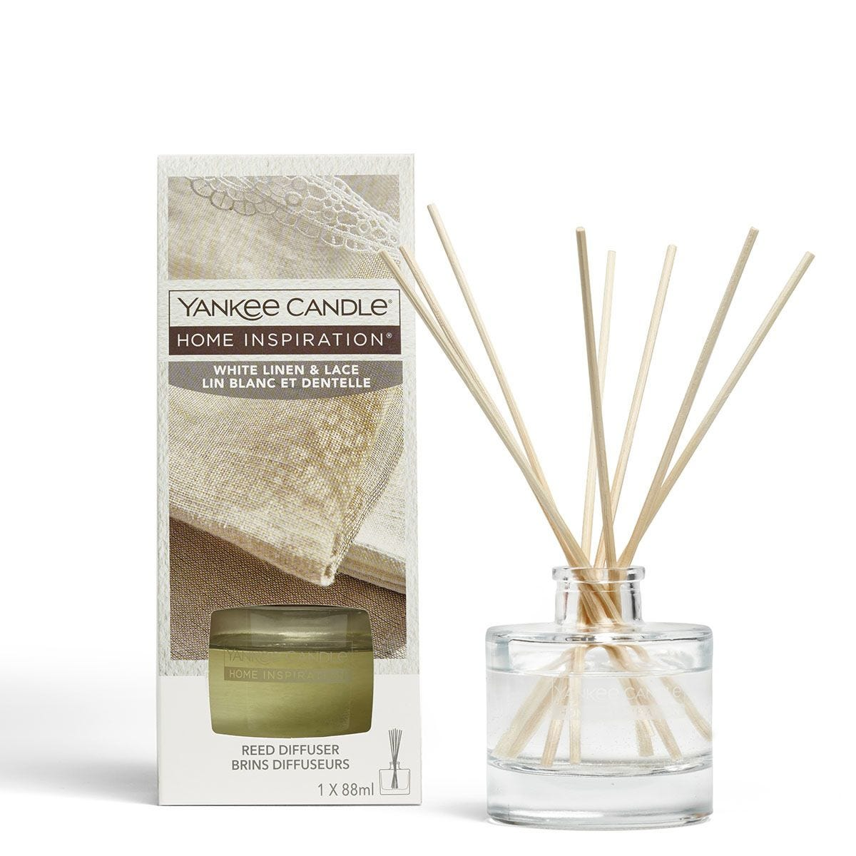 Yankee Candle Home Inspiration White Linen and Lace Reed Diffuser