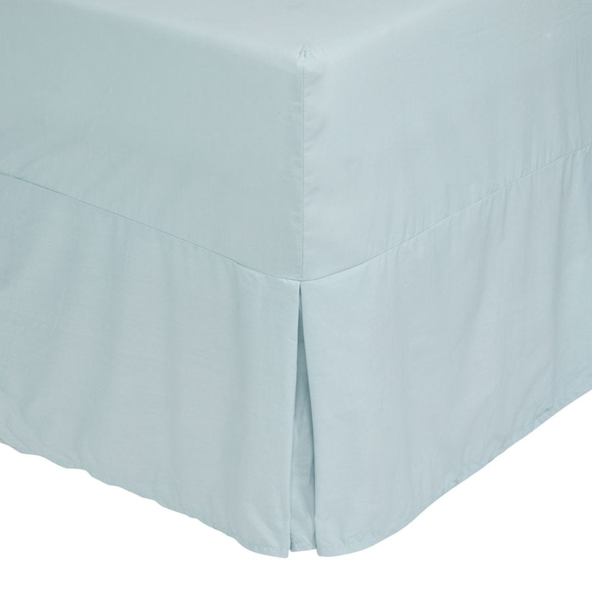 Catherine Lansfield Non-Iron Fitted Valance Sheet - Duck Egg