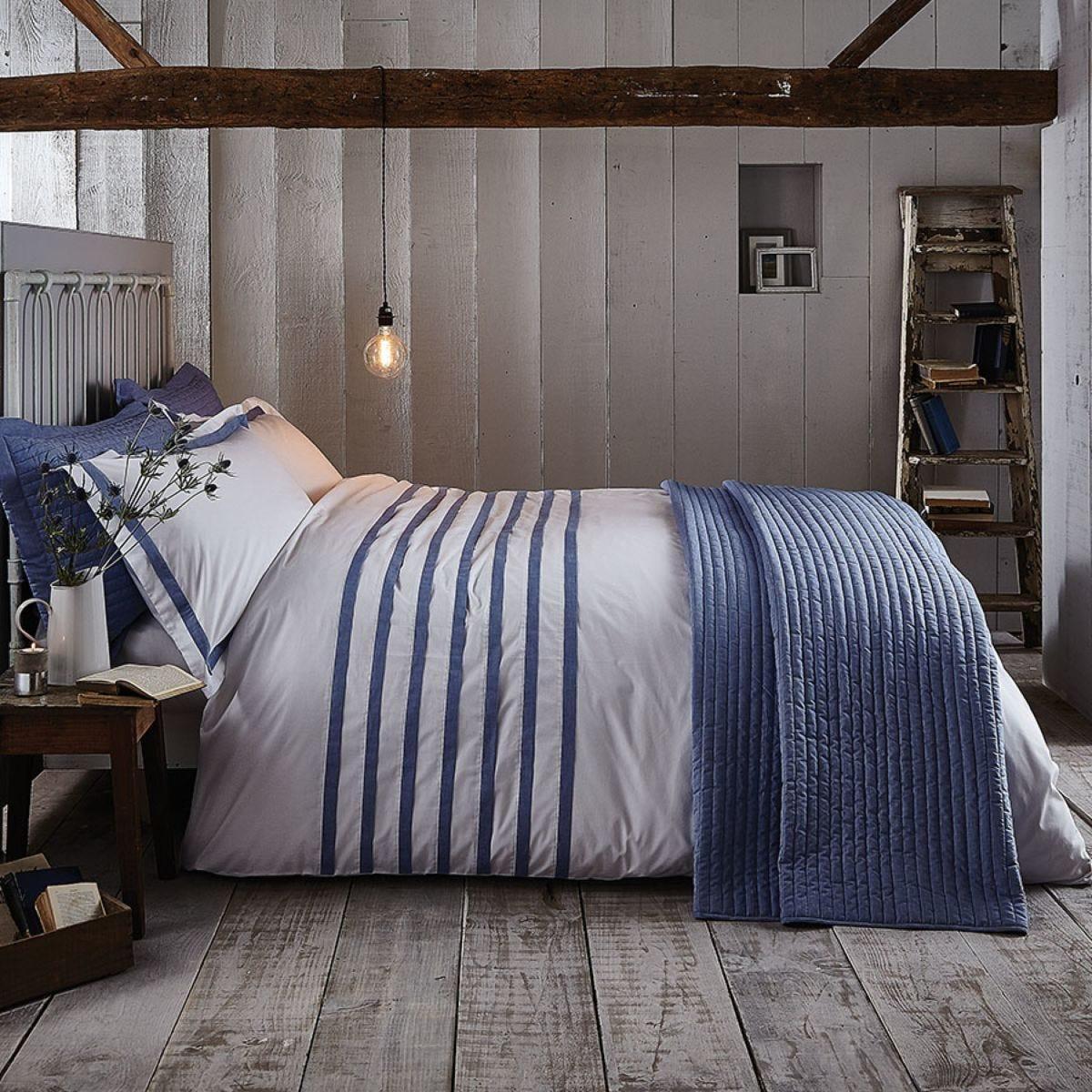 Bianca Cotton Soft Chambray Bed Set - Blue