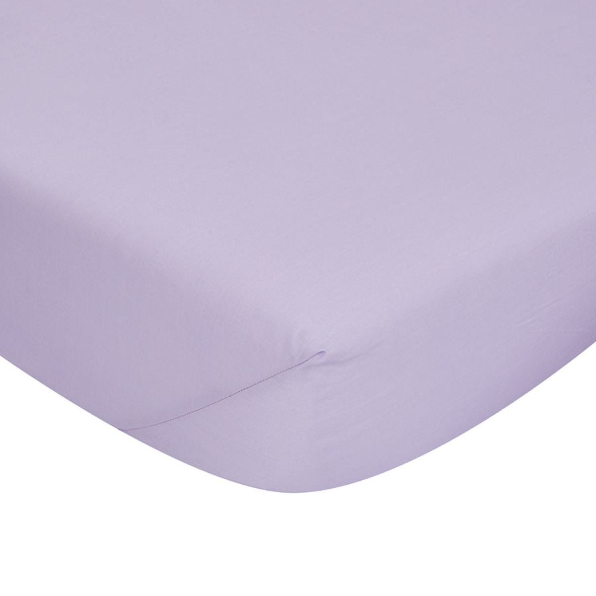 Catherine Lansfield Non-Iron Fitted Sheet - Lilac