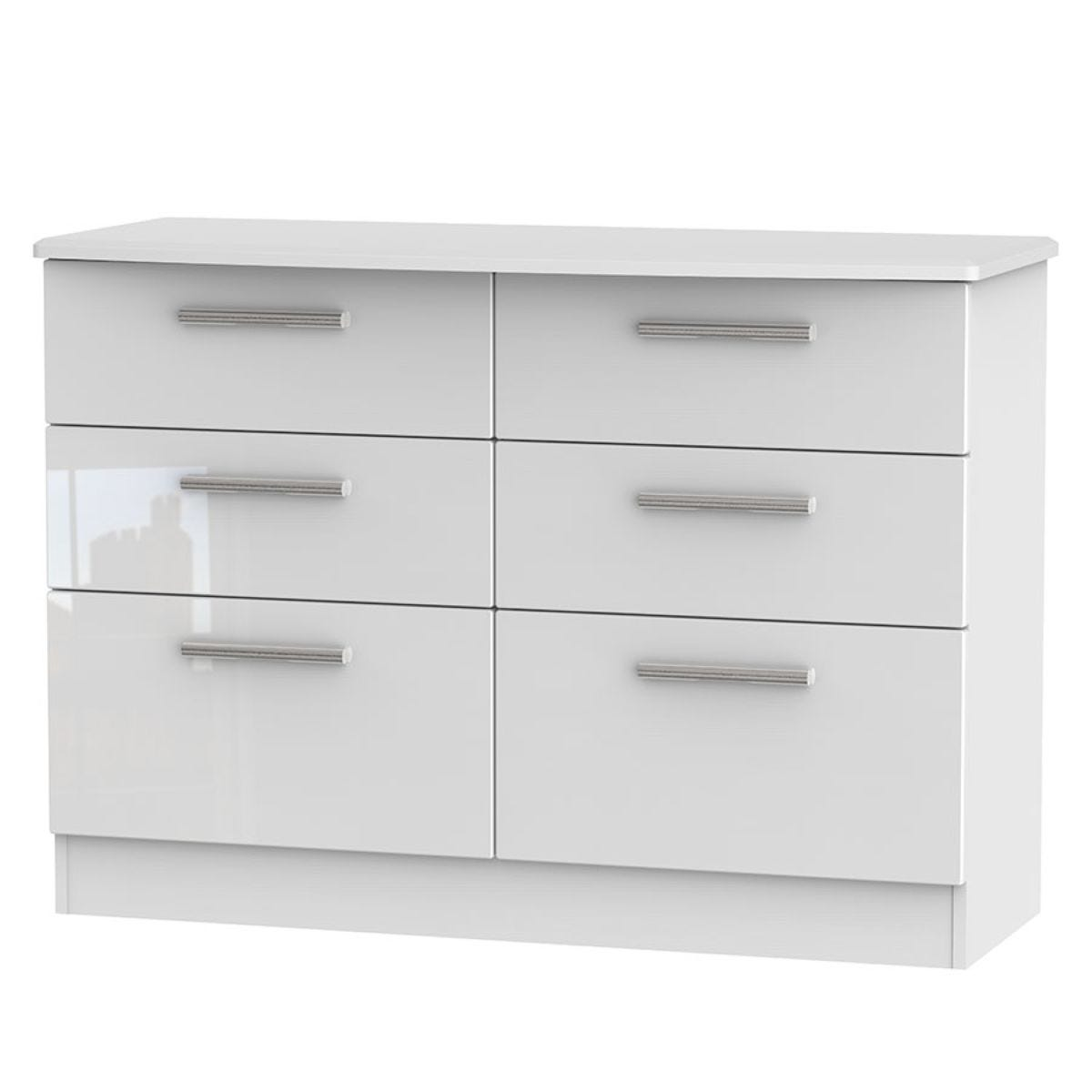 Fourisse 6-Drawer Midi Chest of Drawers - White