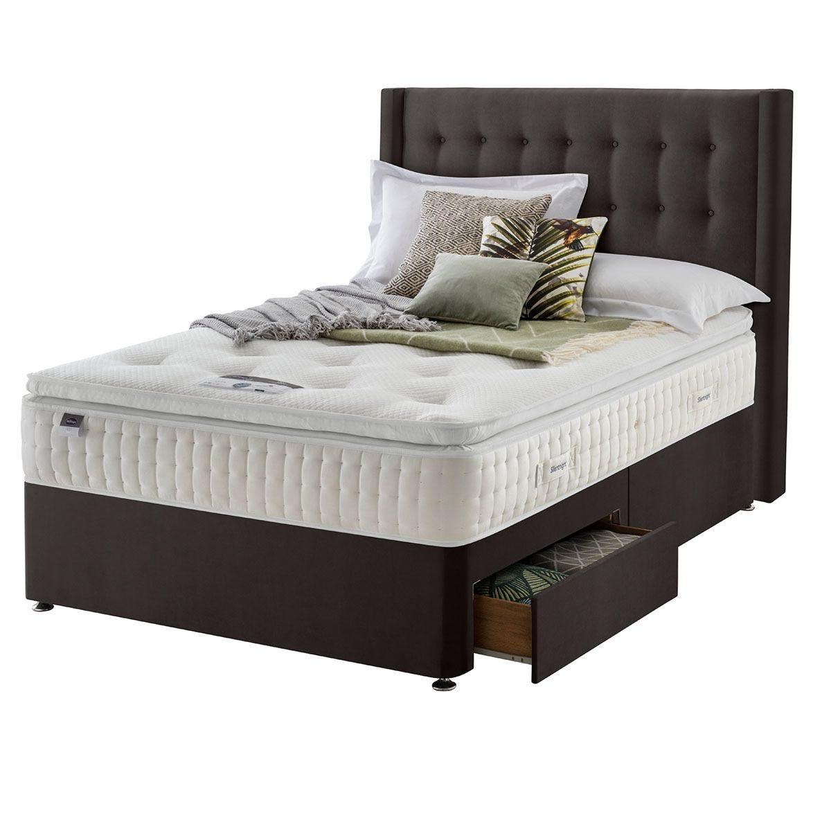 Silentnight Mirapocket Latex 1400 2-Drawer Divan Bed - Velvet Charcoal