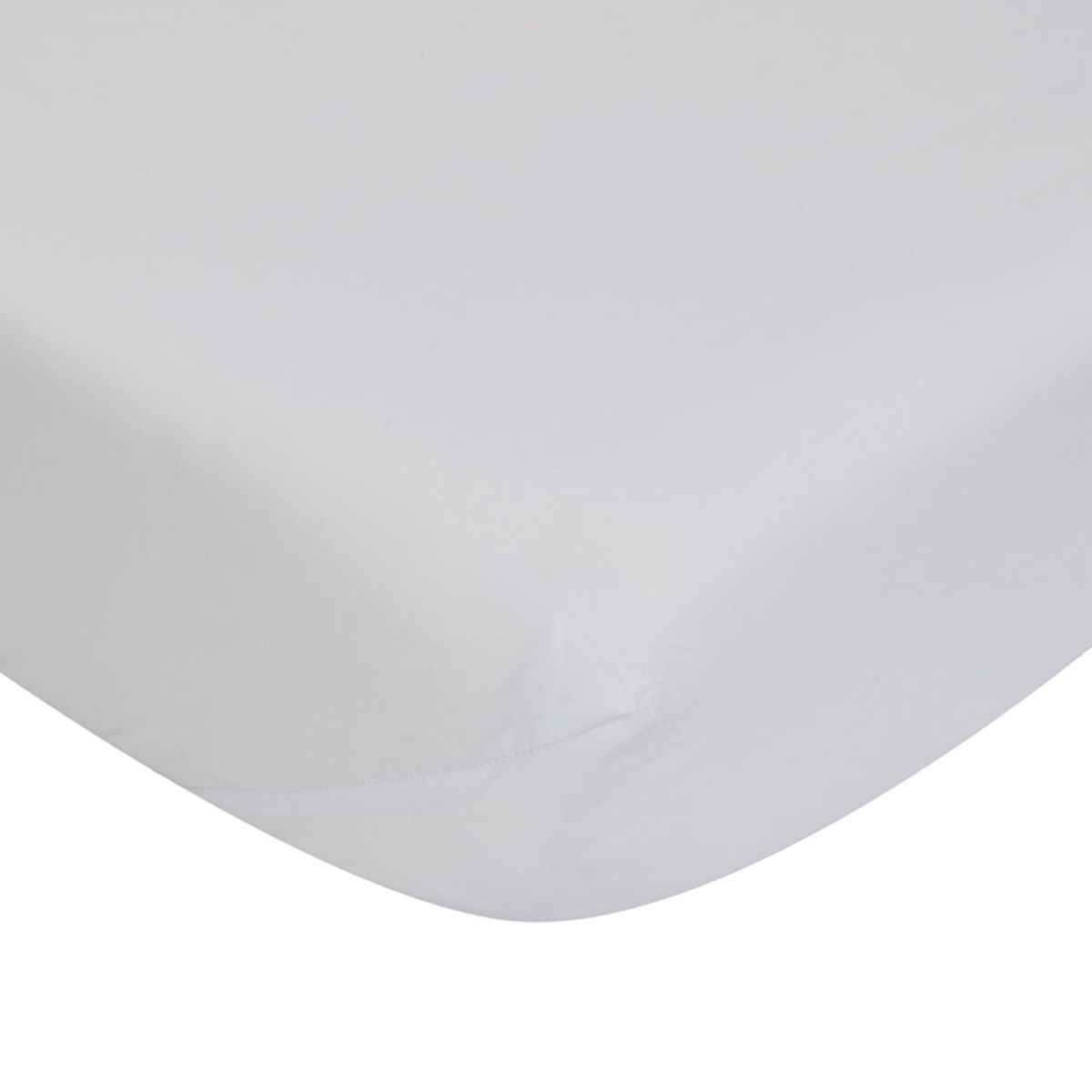Catherine Lansfield Non-Iron Fitted Sheet - White