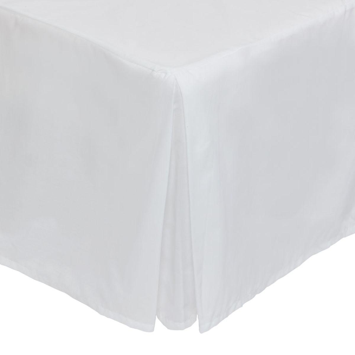 Catherine Lansfield Non-Iron Plain Dye Pleated Platform Valance Sheet - White