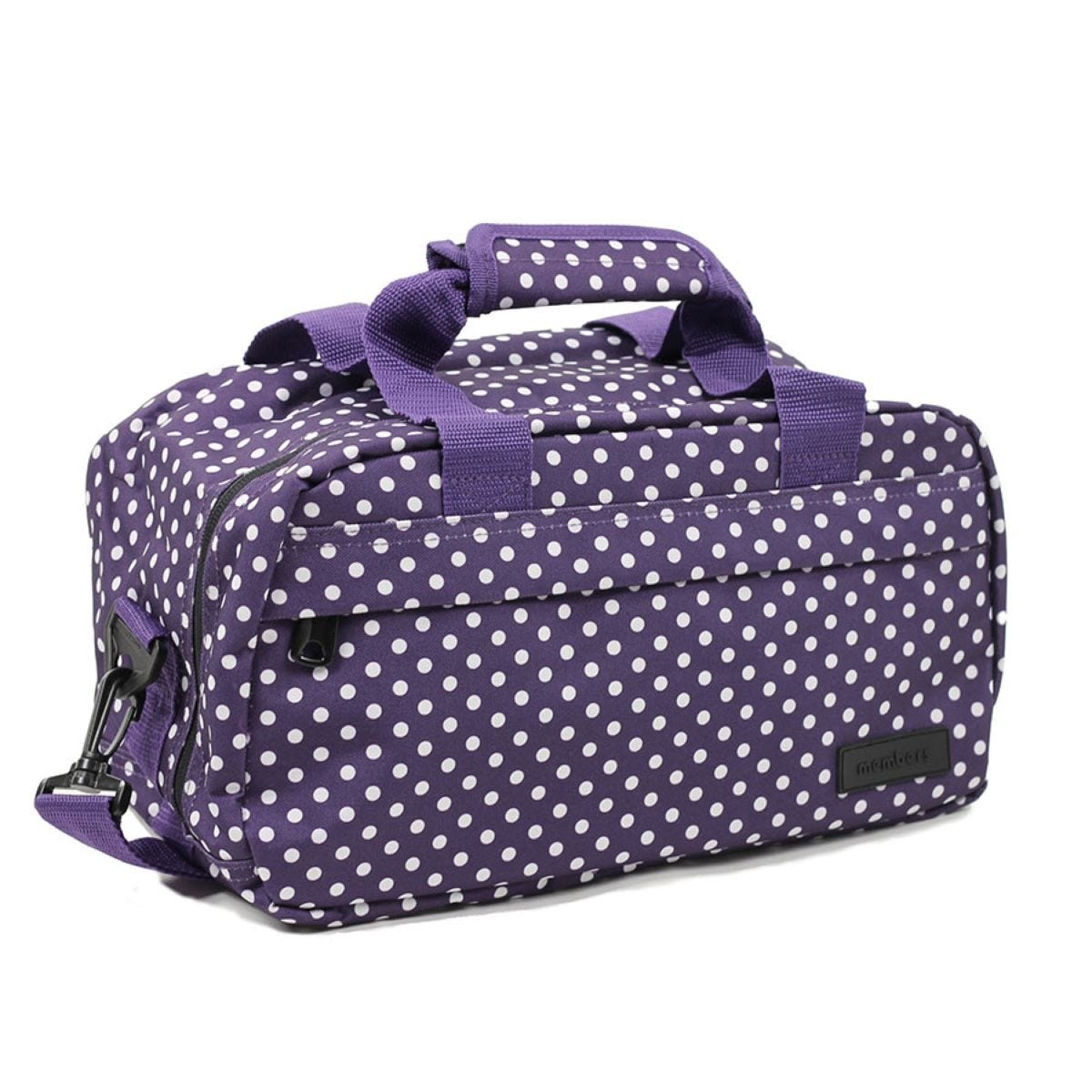 Members by Rock Luggage Essential Under-Seat Hand Luggage Bag – Purple Polka Dots