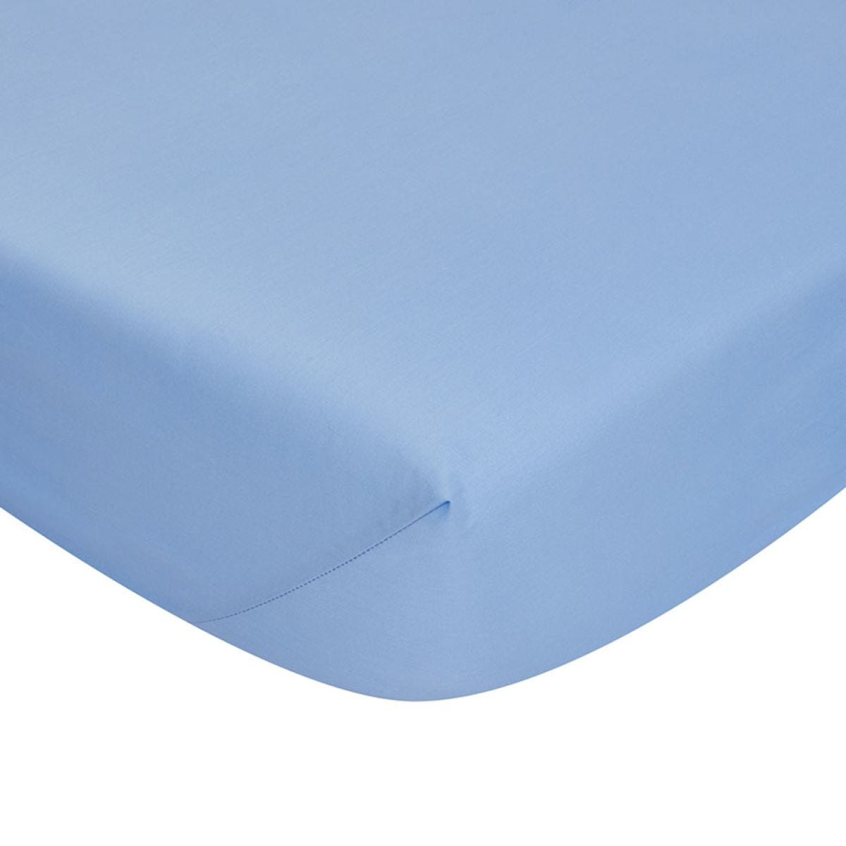 Catherine Lansfield Non-Iron Fitted Sheet - Cornflower
