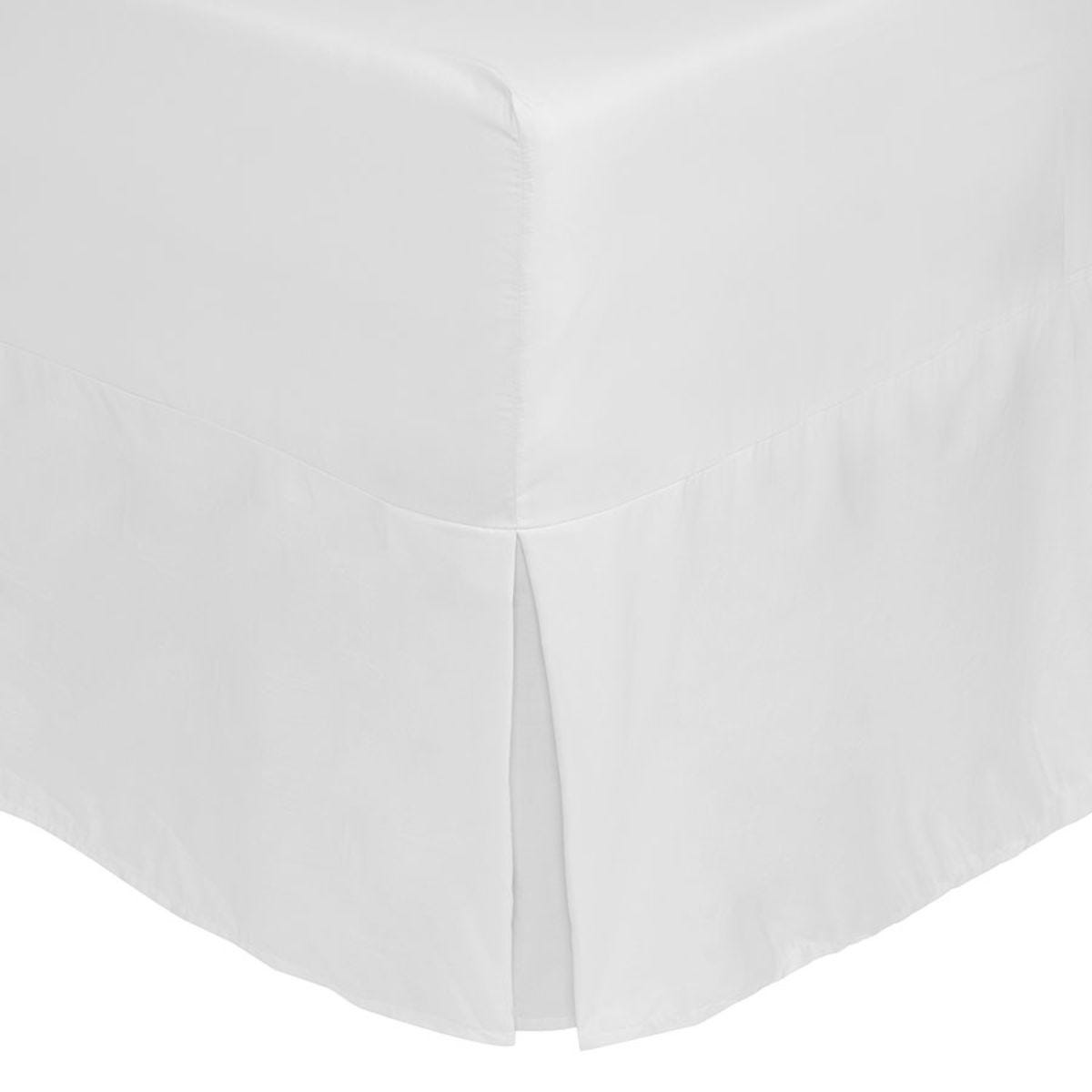 Catherine Lansfield Non-Iron Fitted Valance Sheet - White