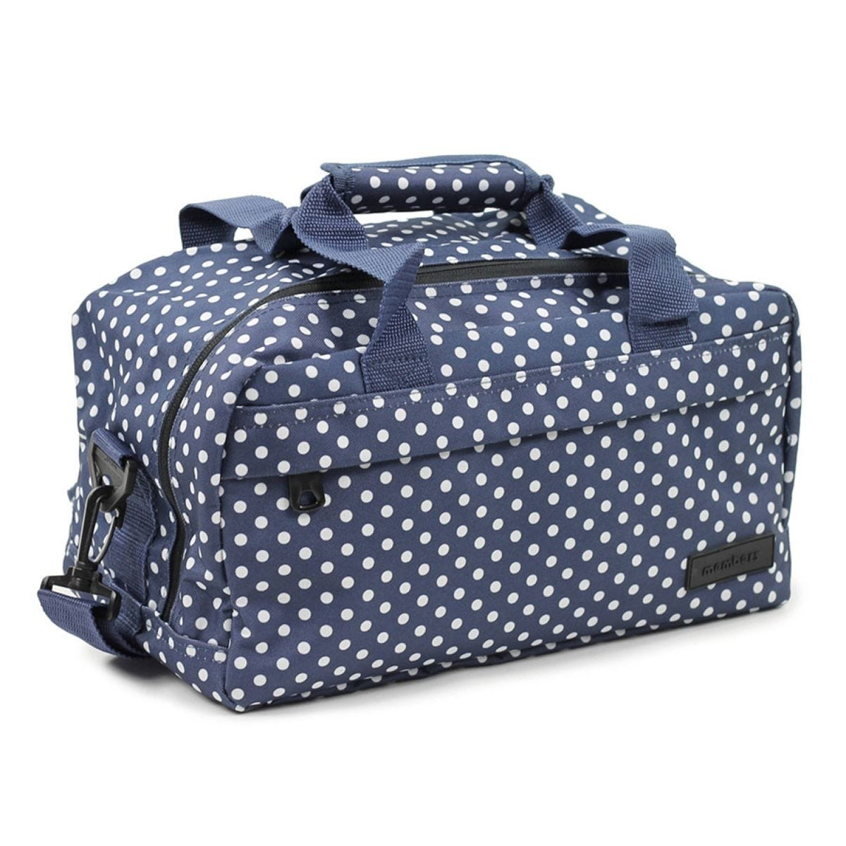Members by Rock Luggage Essential Under-Seat Hand Luggage Bag – Navy Polka Dots