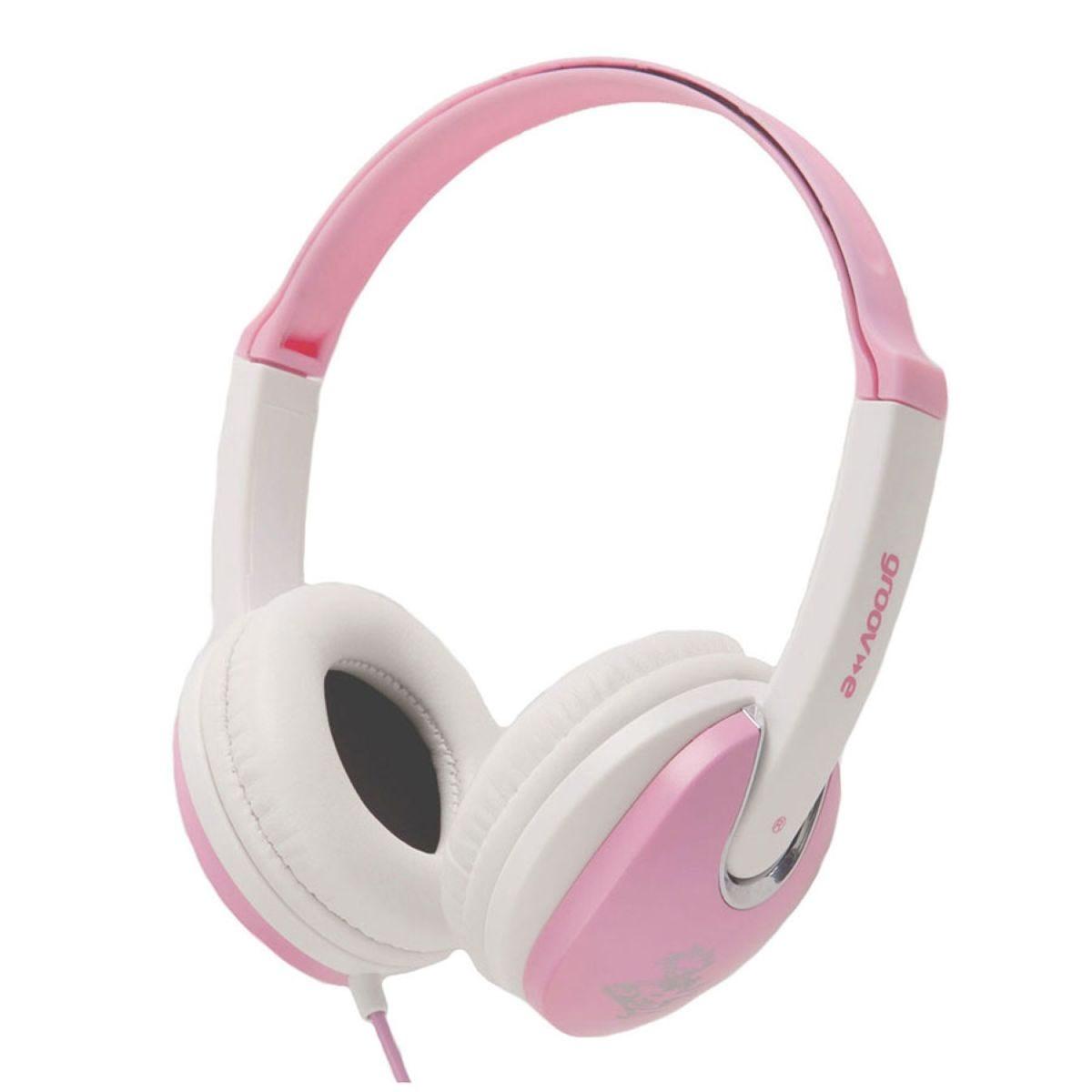 Groov-e Kidz DJ Style Headphones – Pink