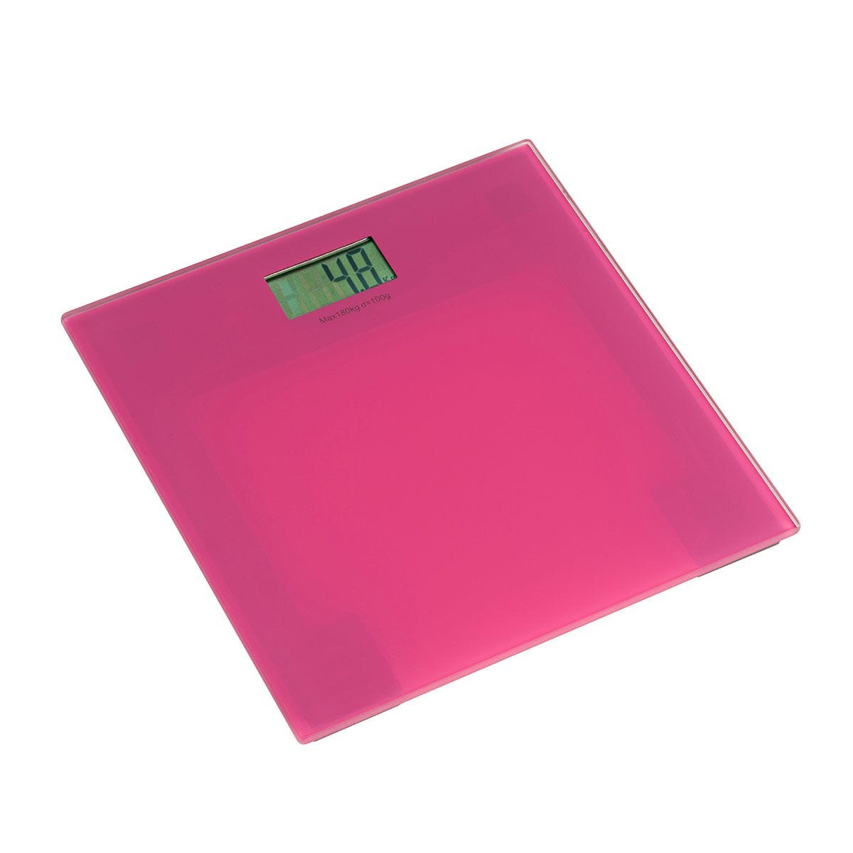 Premier Housewares Pink Tempered Glass Bathroom Scale