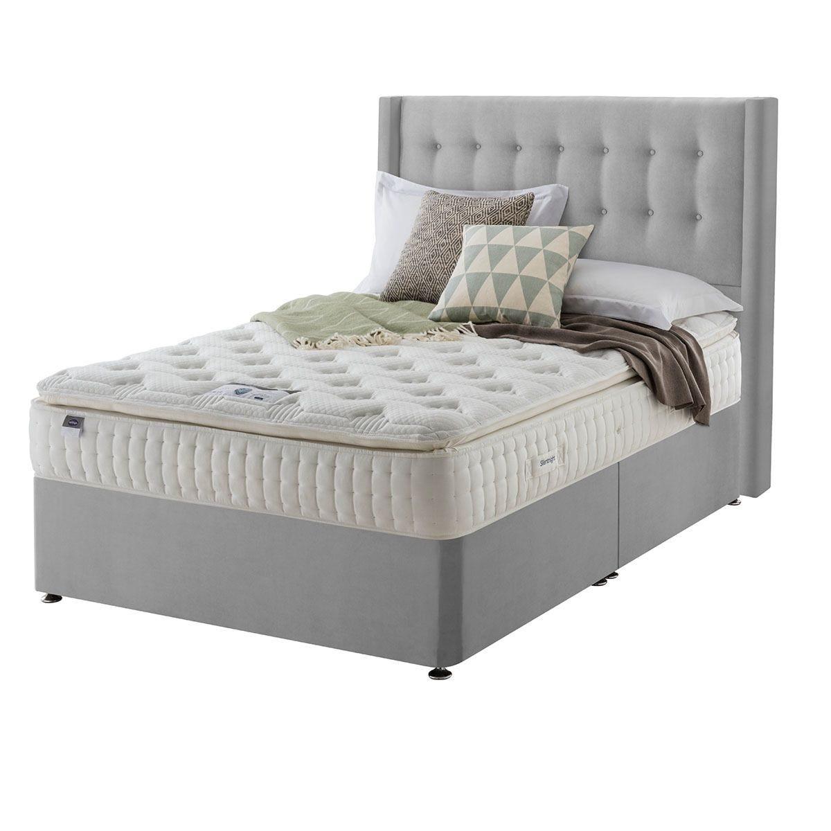 Silentnight Mirapocket Latex 1000 Non Storage Divan Bed - Velvet Silver Super King
